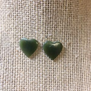 Jade earrings.